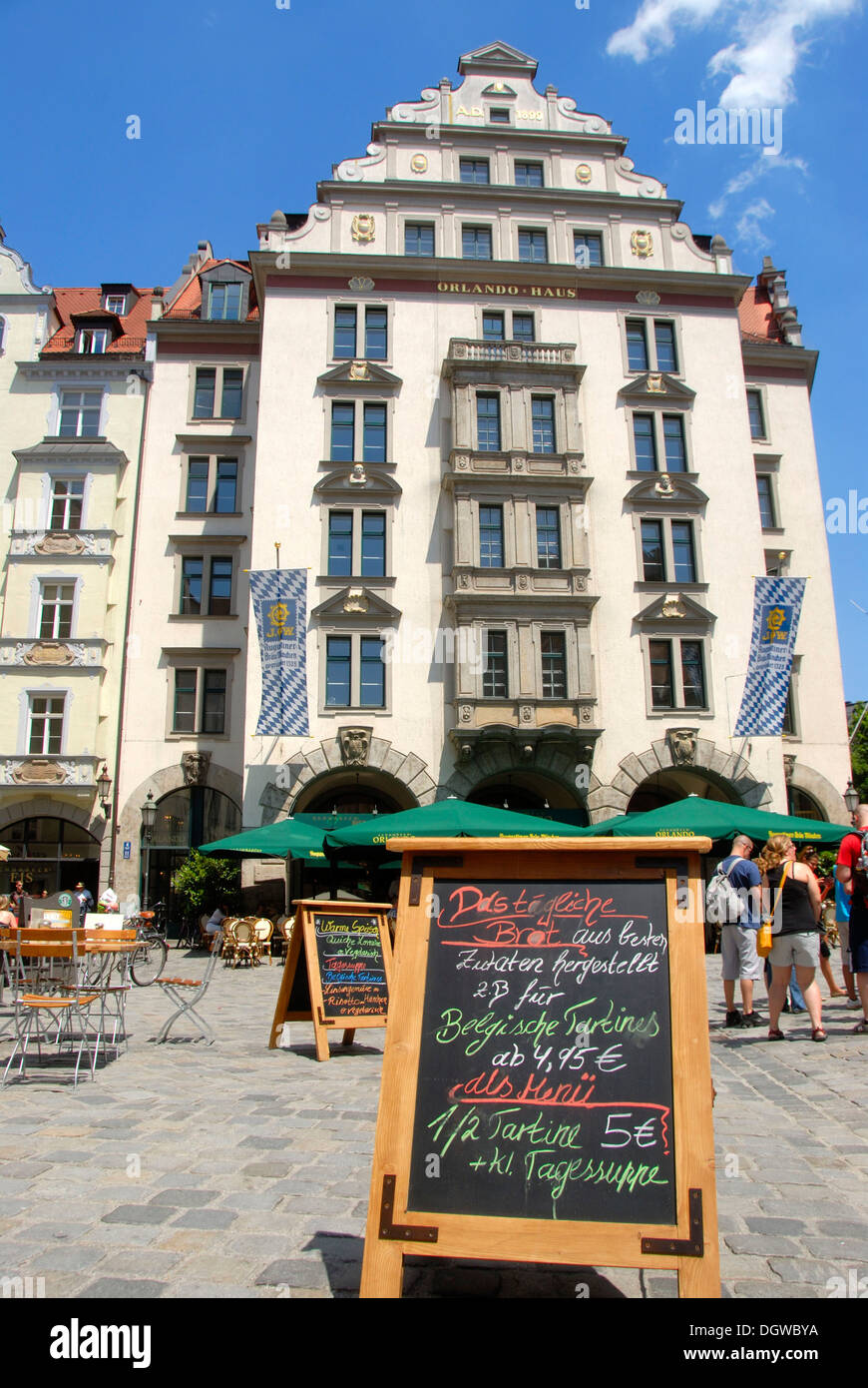Orlando Haus orlando haus building on the platzl square with restaurant and menu