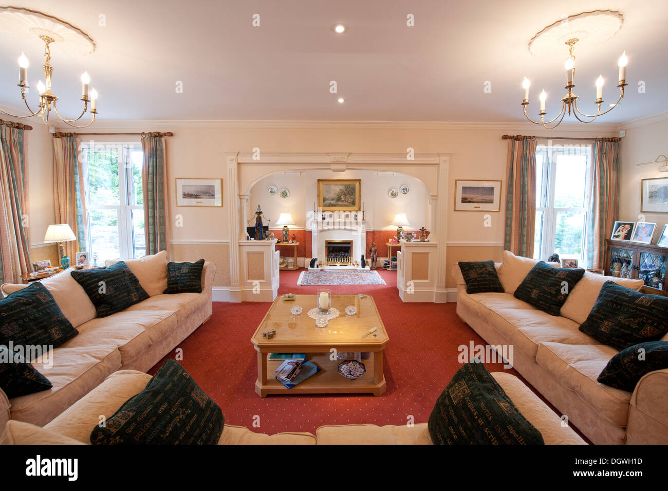 Lounge Living Room Large Grand House Lounge Living Room Entertaining Space Stock