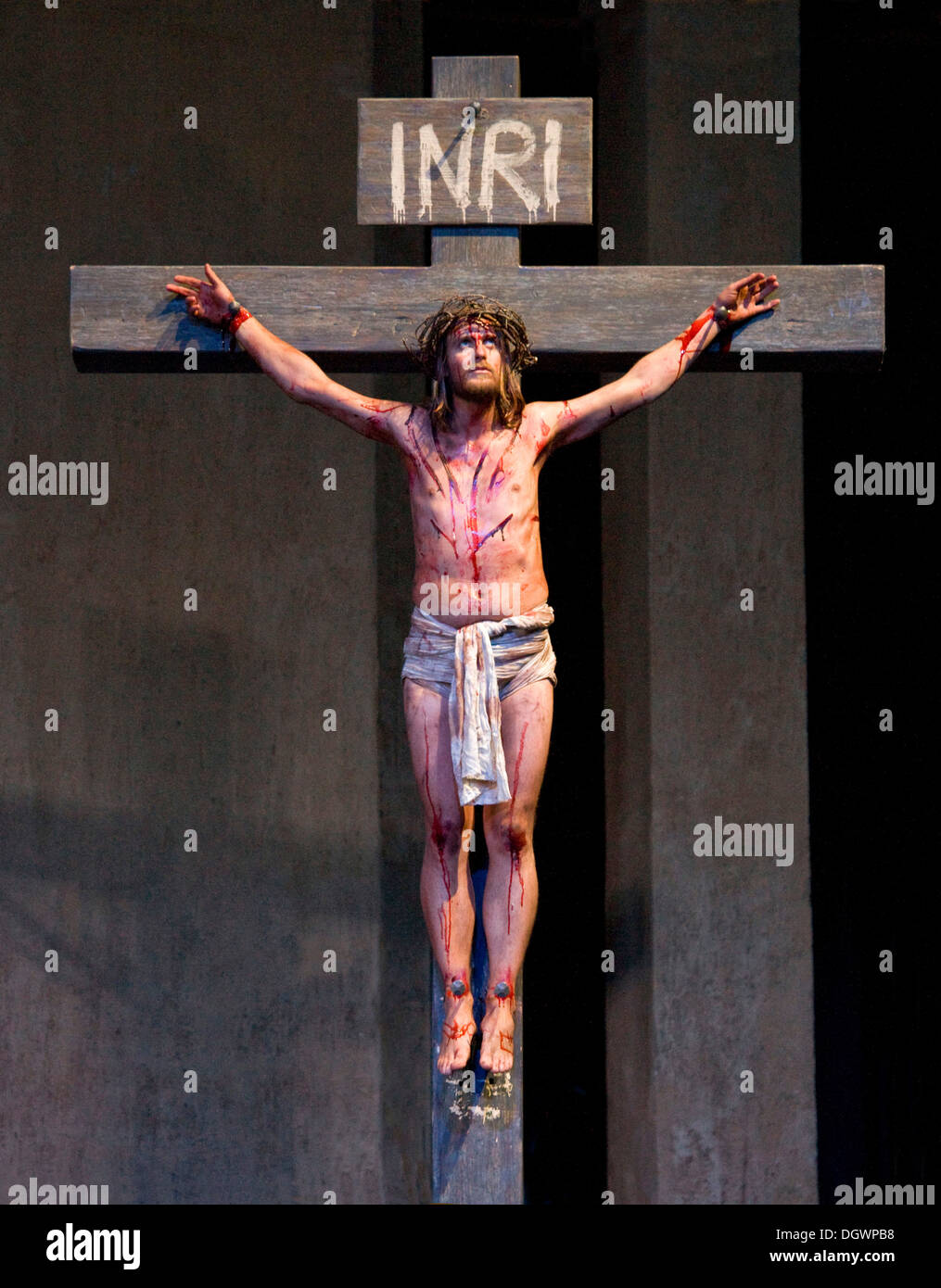 the crucifixion of jesus christ passion play 2010 oberammergau