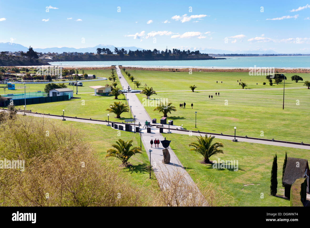 Caroline Bay Park At The Coastal Resort Of Timaru New Zealand Stock Photo Royalty Free Image