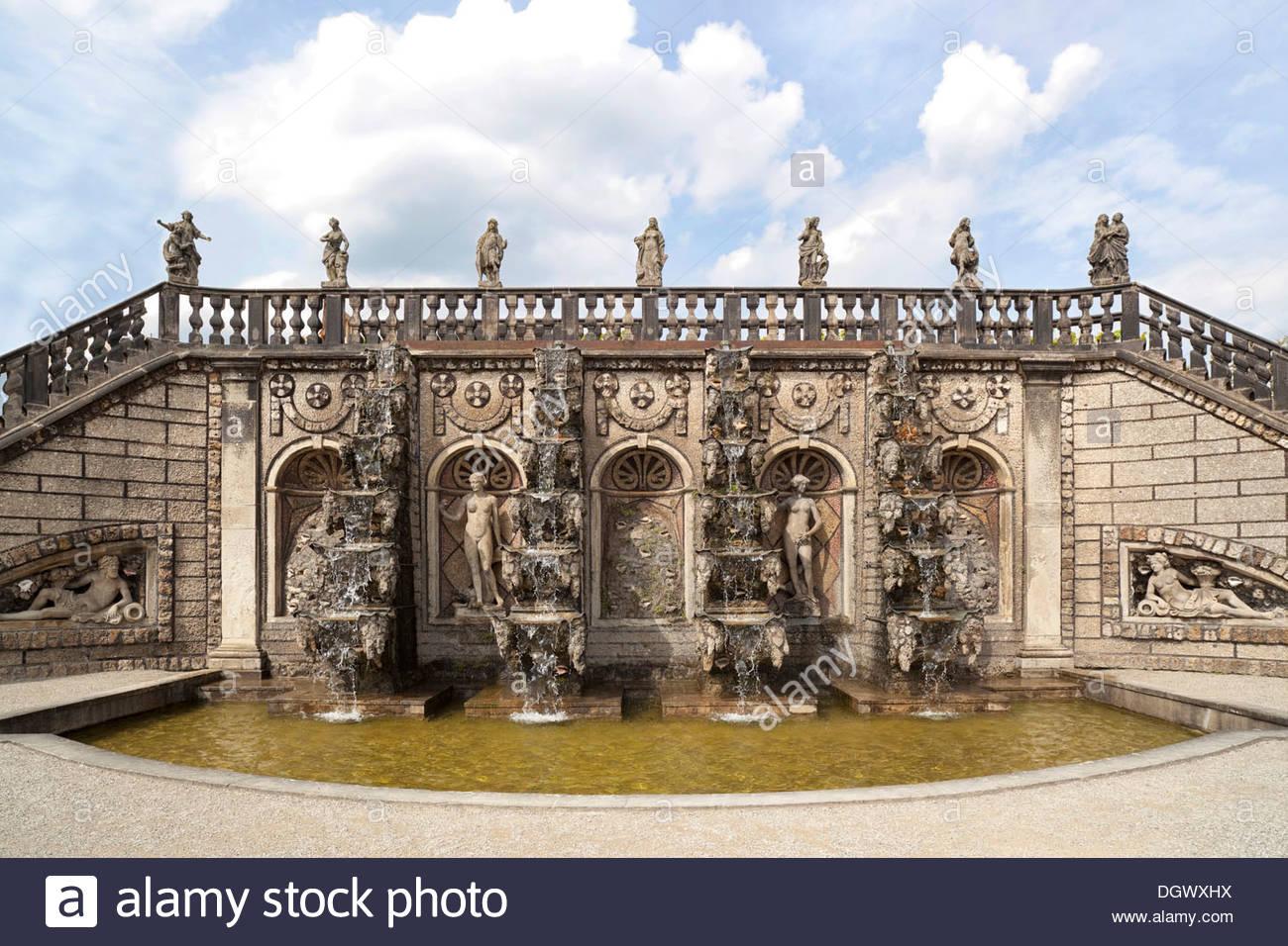 Grand fountain in the grosser garten park herrenhaeuser gardens hanover lower saxony