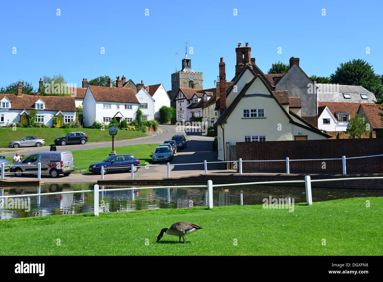 Essex United Kingdom  City new picture : Village Green And Pond, Finchingfield, Essex, England, United Kingdom ...