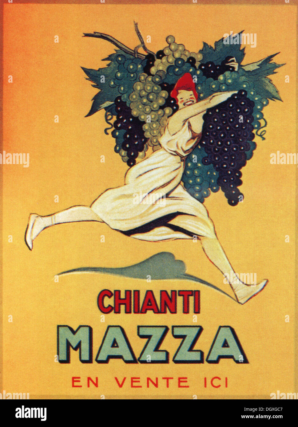 Poster design 1920s - Vins De Chianti Mazza A Vintage Poster 1920 S Editorial Use Only
