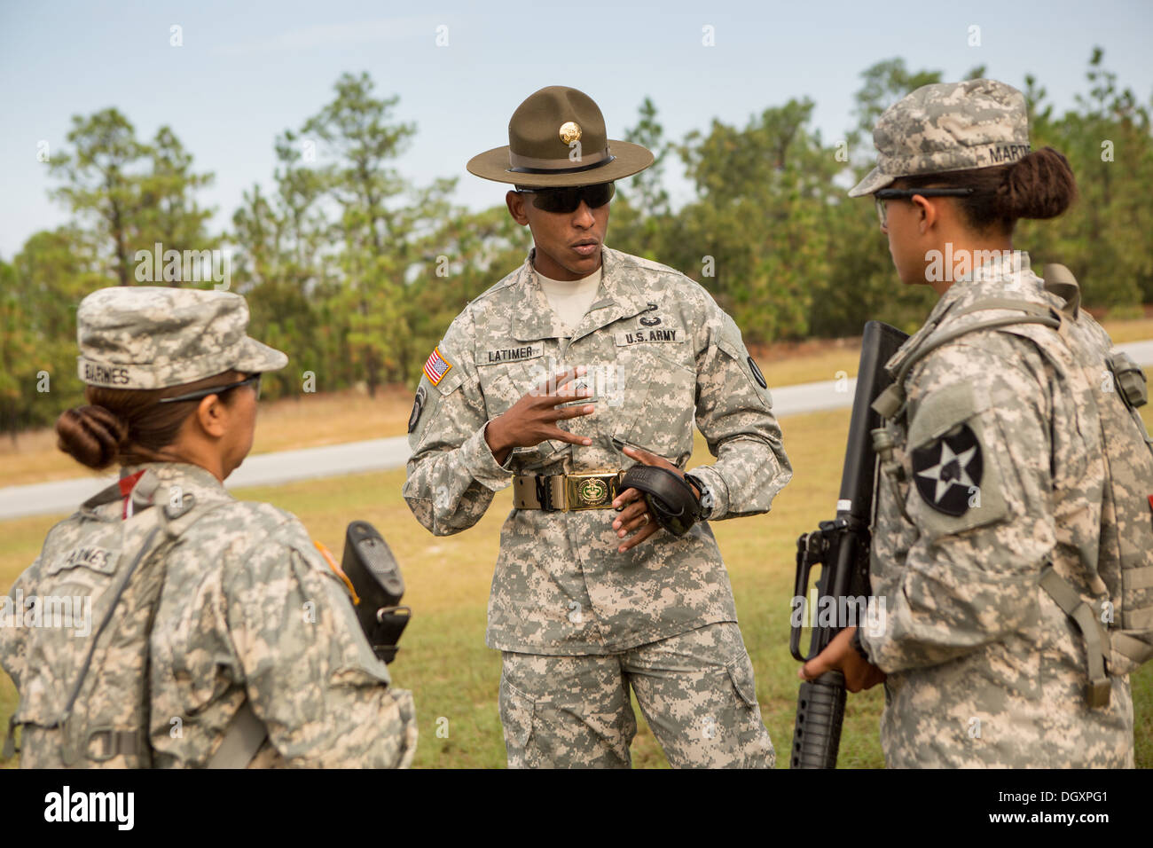 a drill sergeant at first