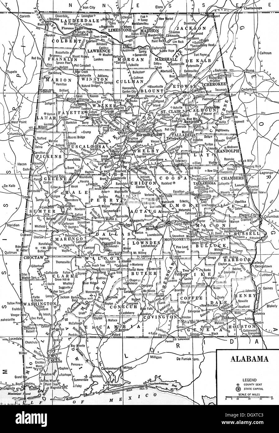 Old Map Of Alabama State S Stock Photo Royalty Free Image - State of alabama map