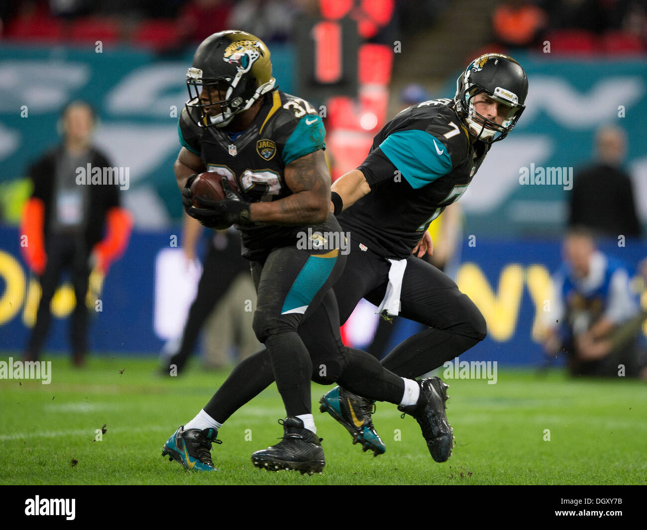 london uk 27th oct 2013 jacksonville jaguars quarterback chad. Cars Review. Best American Auto & Cars Review