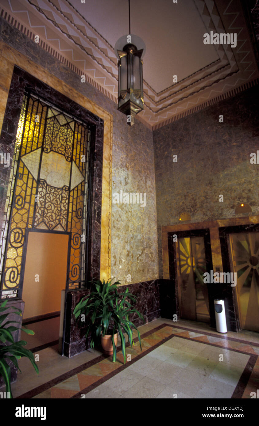 Art deco interior of bacardi building havana cuba stock for Interieur art deco