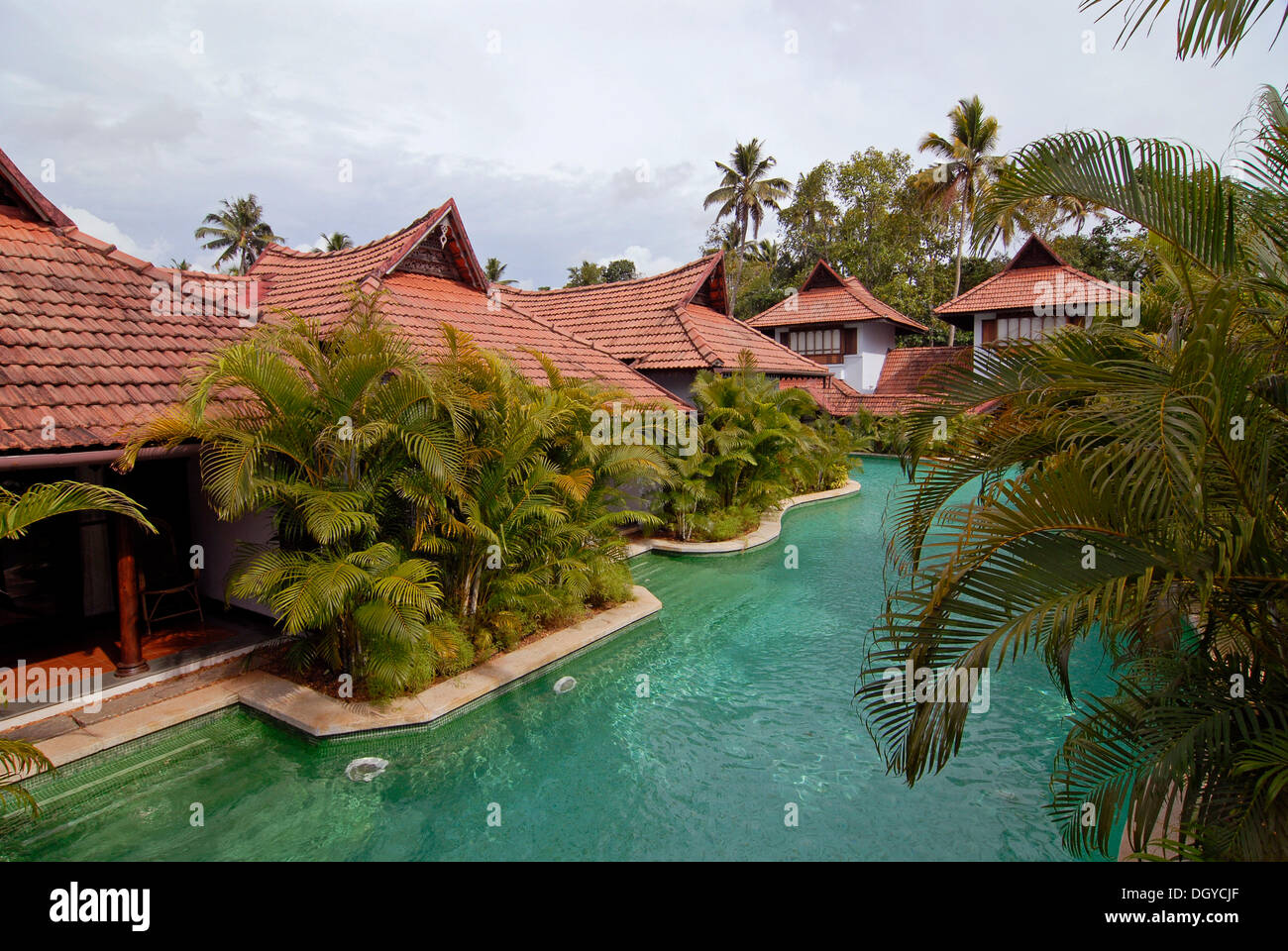 Pool Kumarakom Lake Resort Vembanad Lake Kerala South India Stock Photo 62068231 Alamy