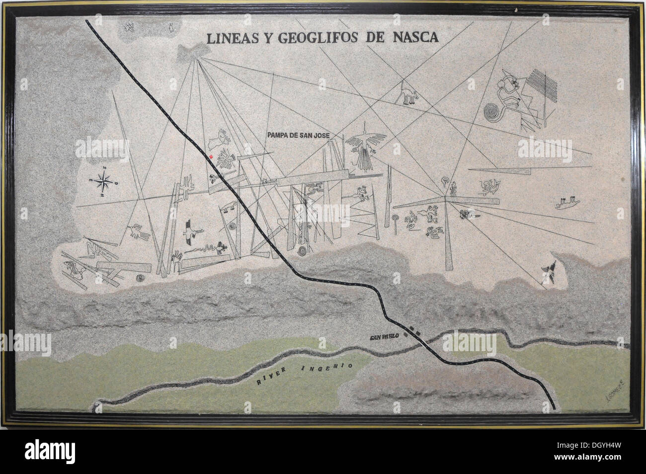 Map Showing An Overview Of The Nazca Lines Nazca Inca Peru - Map of usa showing san jose