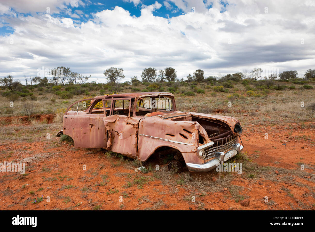 Car wreck in the outback, Northern Territory, Australia Stock ...