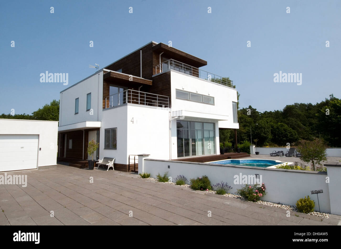 Stock photo modern swedish sweden house houses home home contemporary minimalist scandinavian eco friendly ecofriendly efficient efficiency