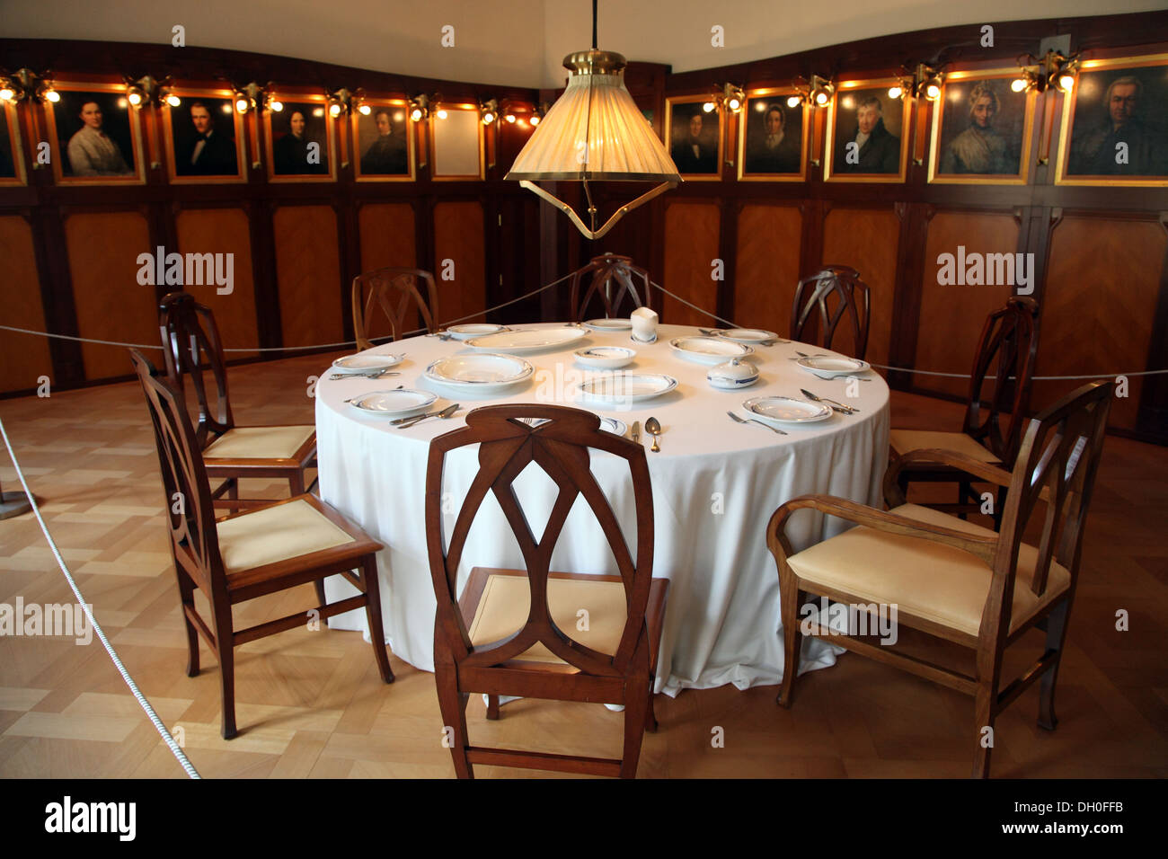 Villa Esche Dining Room Chemnitz Germany Stock Photo Royalty Free