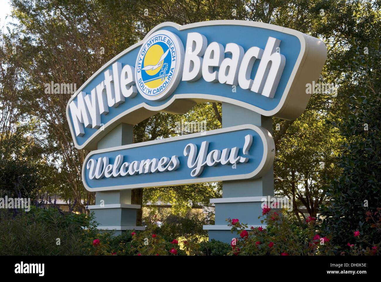 Myrtle Beach Welcome Sign South Carolina USA Stock Photo 62095306