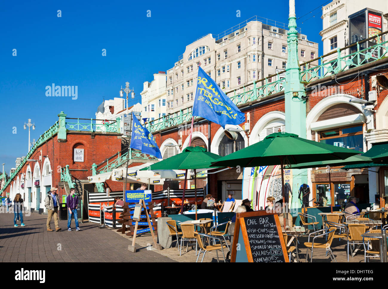 Cafes On Brighton Beach Front