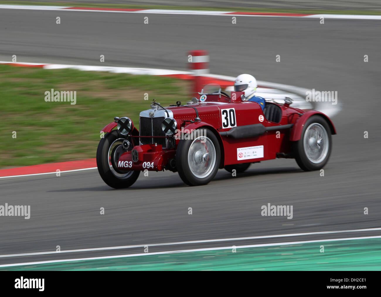 Vintage MG oldtimer racing during the Arosa Mountain Rally in ...