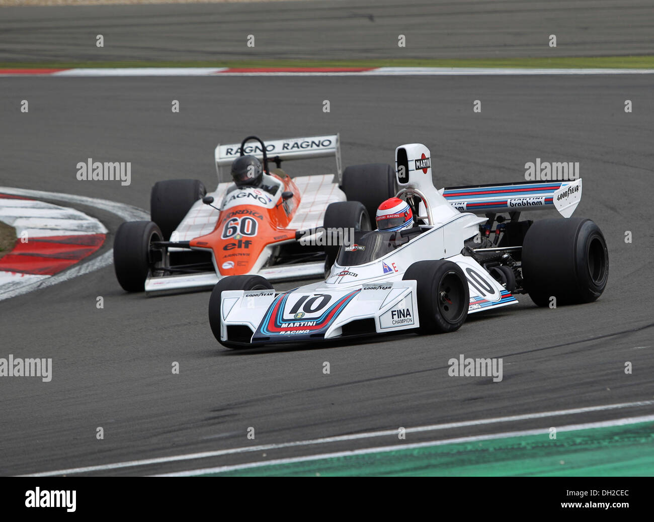 Old Brabham f1 car racing at Brands Hatch Stock Photo: 28435465 ...