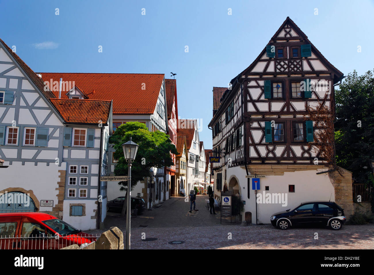 germany baden wuerttemberg bietigheim street houses deutschland stock photo royalty free. Black Bedroom Furniture Sets. Home Design Ideas