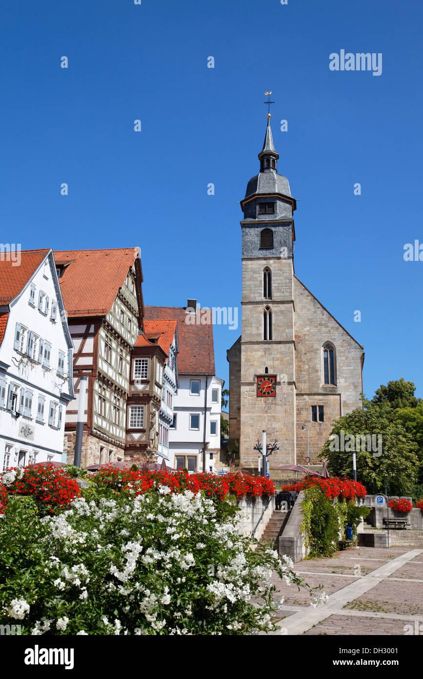 Germany baden w rttemberg b blingen church half timbered houses stock photo 62146113 alamy - Boblingen mobel ...
