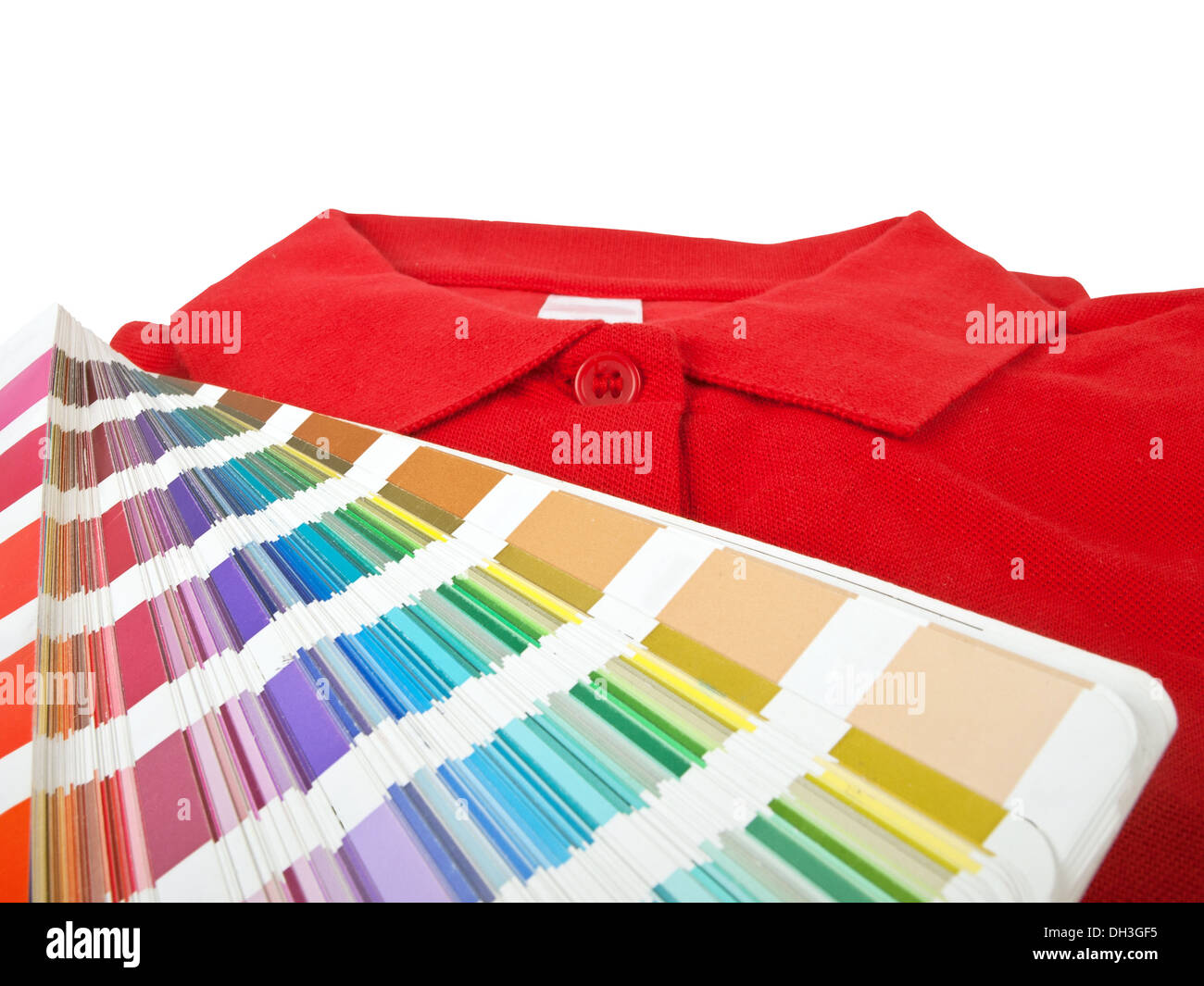 Color chart and red polo t shirt stock photo royalty free image color chart and red polo t shirt geenschuldenfo Image collections