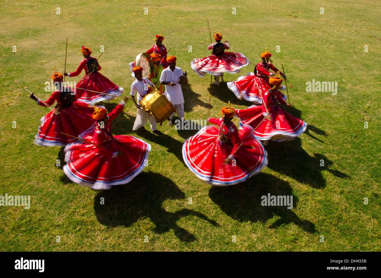 rajasthani folk dance ghoomar at jodhpur rajasthan india