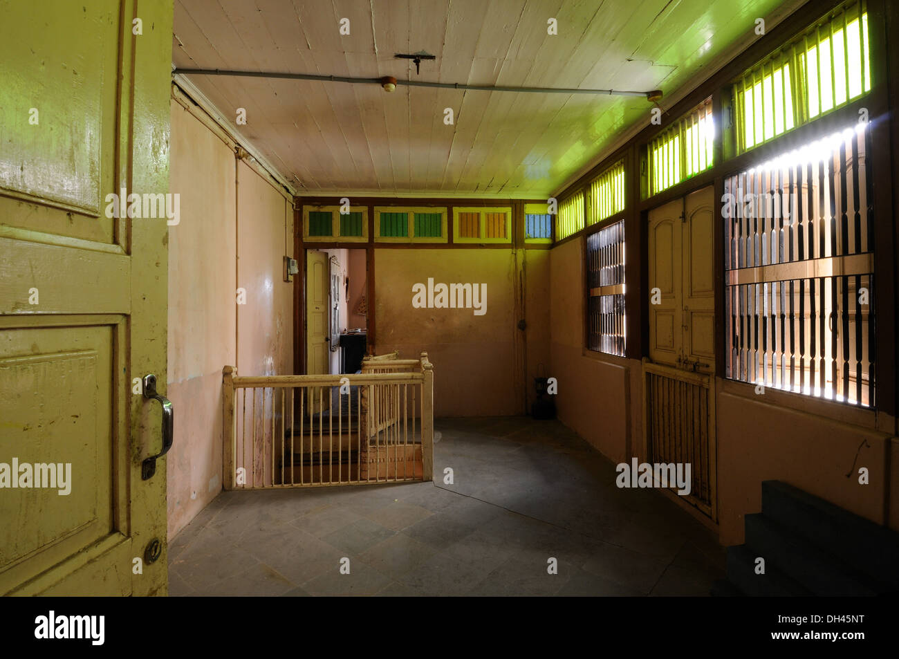 Interior view of old village house gujarat india stock for Old indian house interior