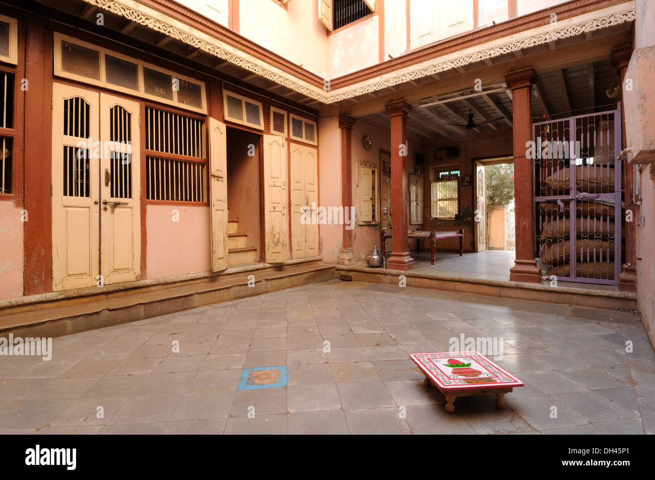 Interior Of Indian Village House Gujarat India Raj