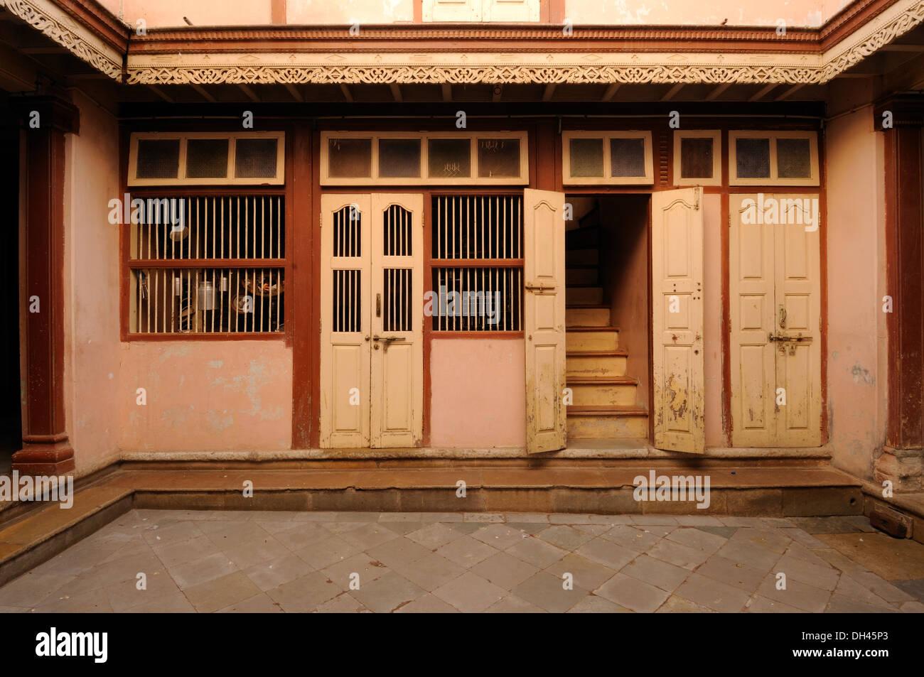 Interior Of Indian Village House Gujarat India Raj