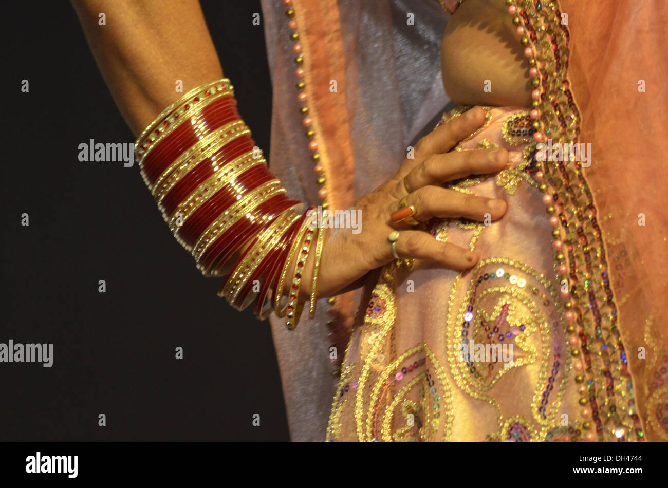 woman kathak dancer wearing bangles with hand on hips Jodhpur ...
