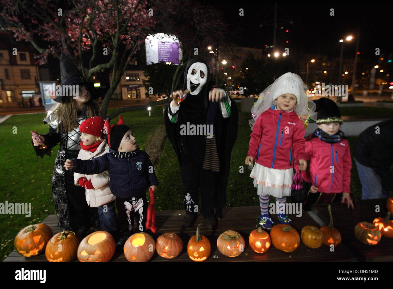 Gdynia, Poland 31st, October 2013 Halloween day celebrated in ...