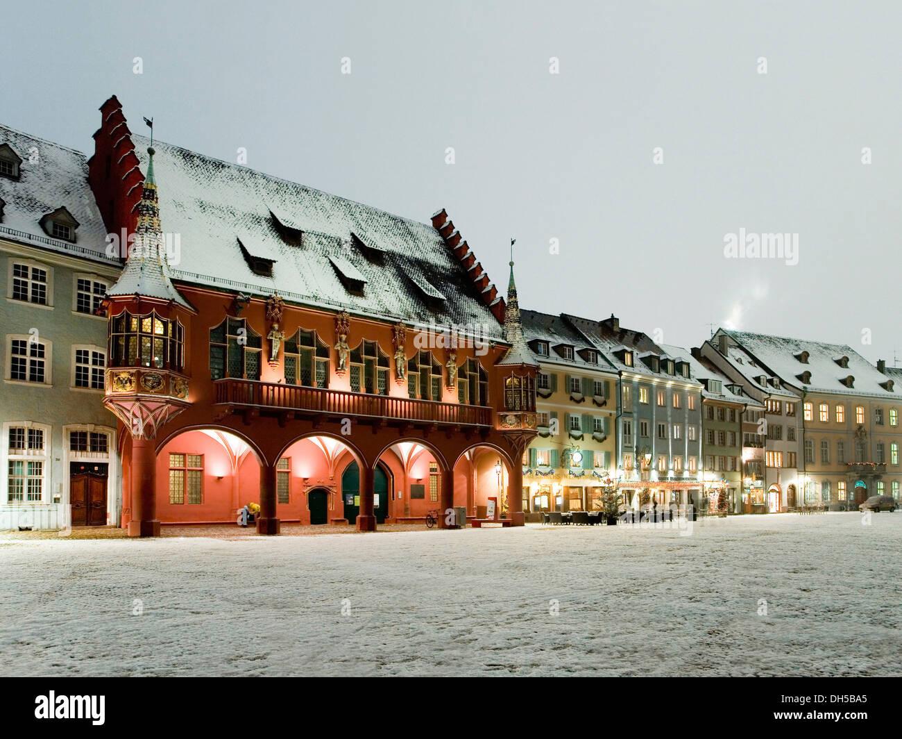 muensterplatz square in winter freiburg freiburg im breisgau stock photo royalty free image. Black Bedroom Furniture Sets. Home Design Ideas