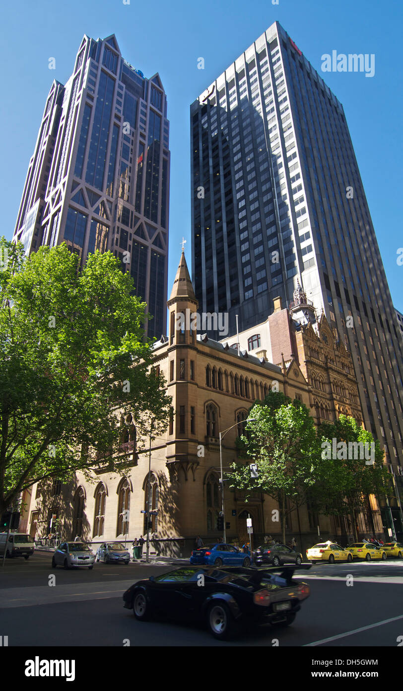 anz gothic bank building with anz world hq and westpac building melbourne australia anz office melbourne