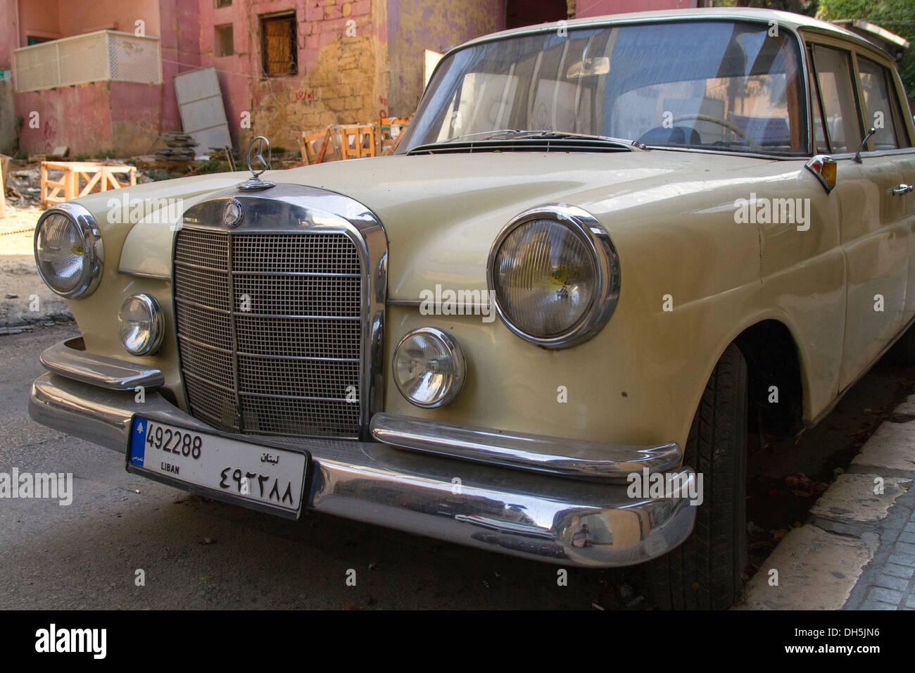 Vintage mercedes benz beirut lebanon stock photo for Mercedes benz lebanon