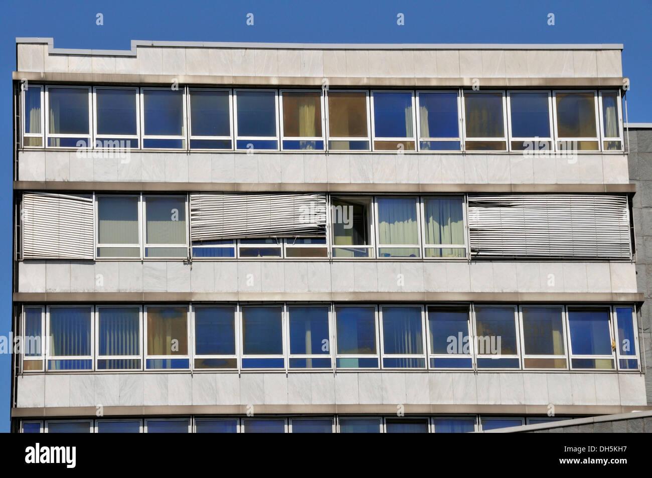 Venetian Architecture Run Down Office Building With Broken Blinds Mainz Stock