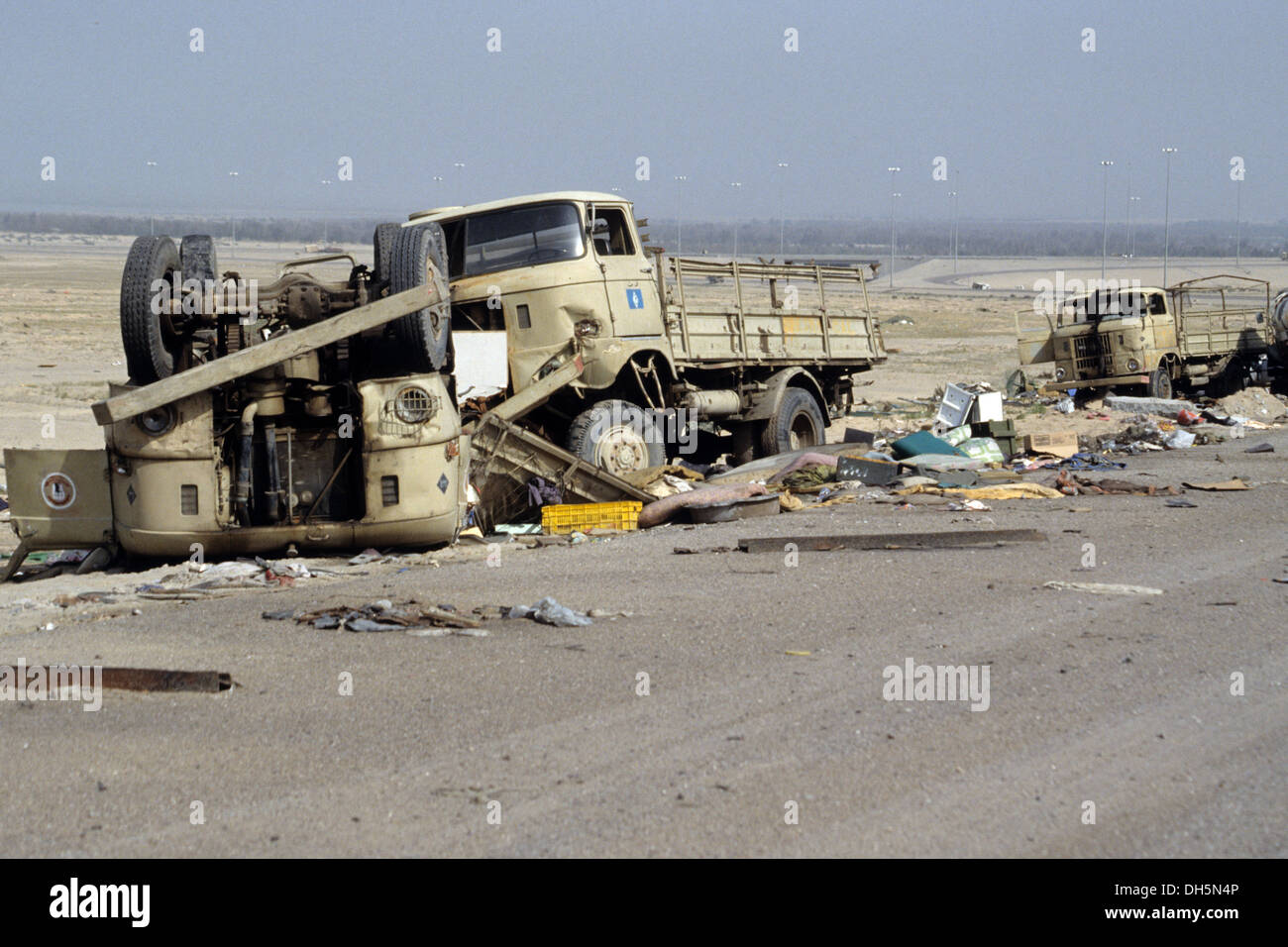 The aftermath of the 1991 gulf war in kuwait the death highway stock photo the aftermath of the 1991 gulf war in kuwait the death highway mutla ridge sciox Image collections