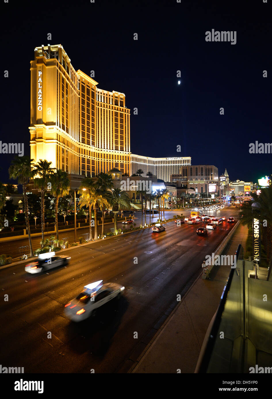 Palazzo luxury hotel and casino at night las vegas nevada united states of america usa publicground