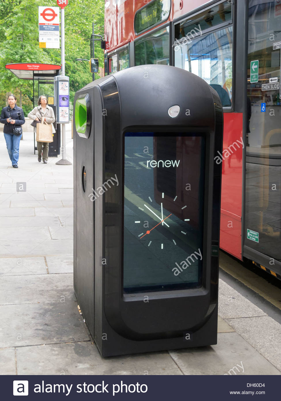 Litter Bin Street Advertising London England Stock Photo Royalty - Street advertising