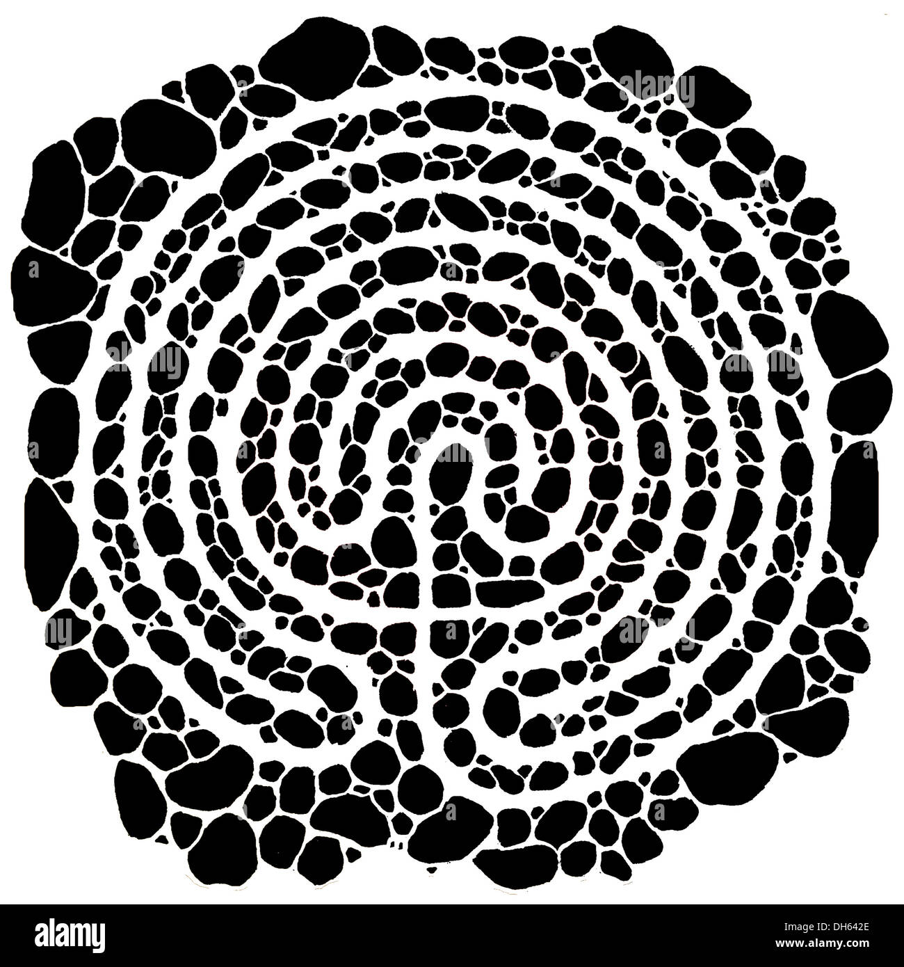 Black and white labyrinth stock photos black and white labyrinth the labyrinth symbolizes the life path black an white design stock image buycottarizona Image collections