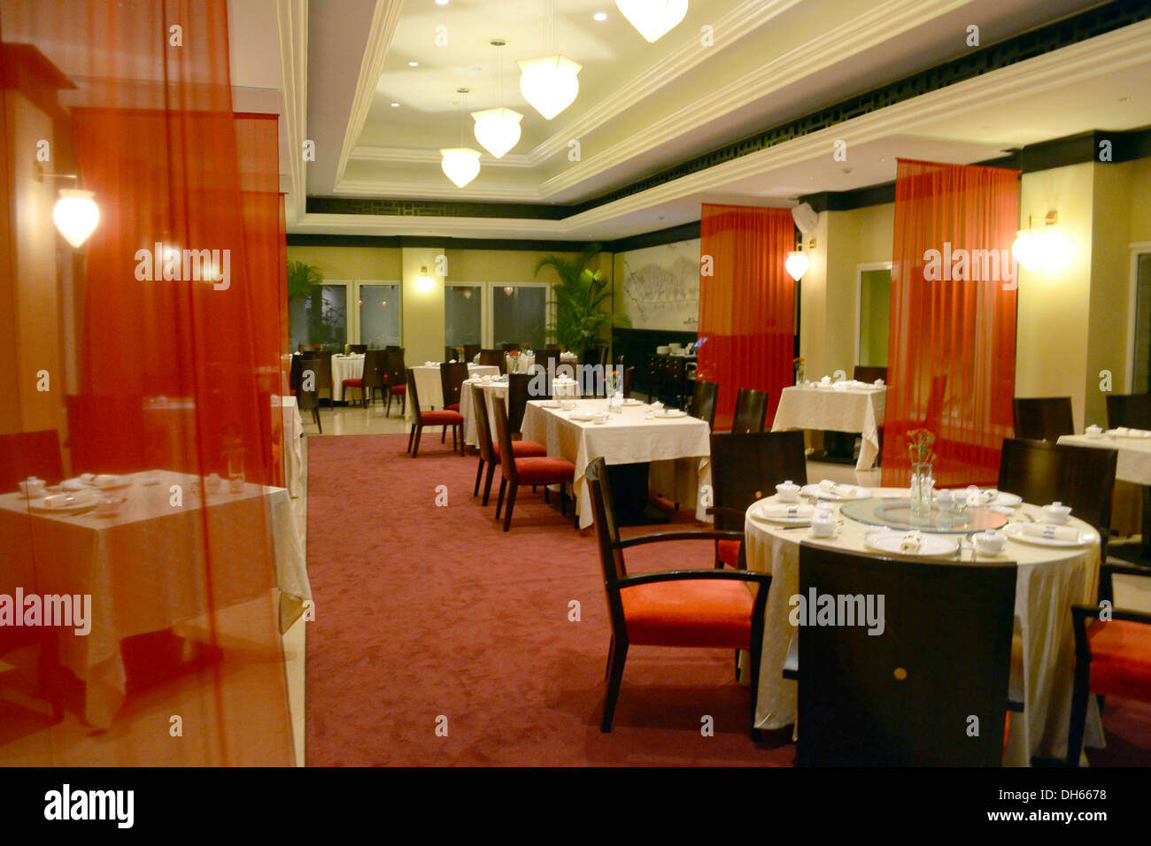 the decor of a chinese restaurant stock photo, royalty free image