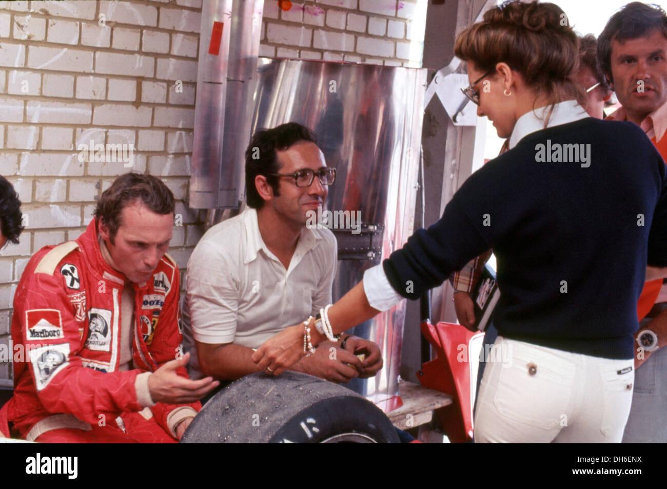 Niki Lauda With His Wife Marlene And Mauro Forghieri