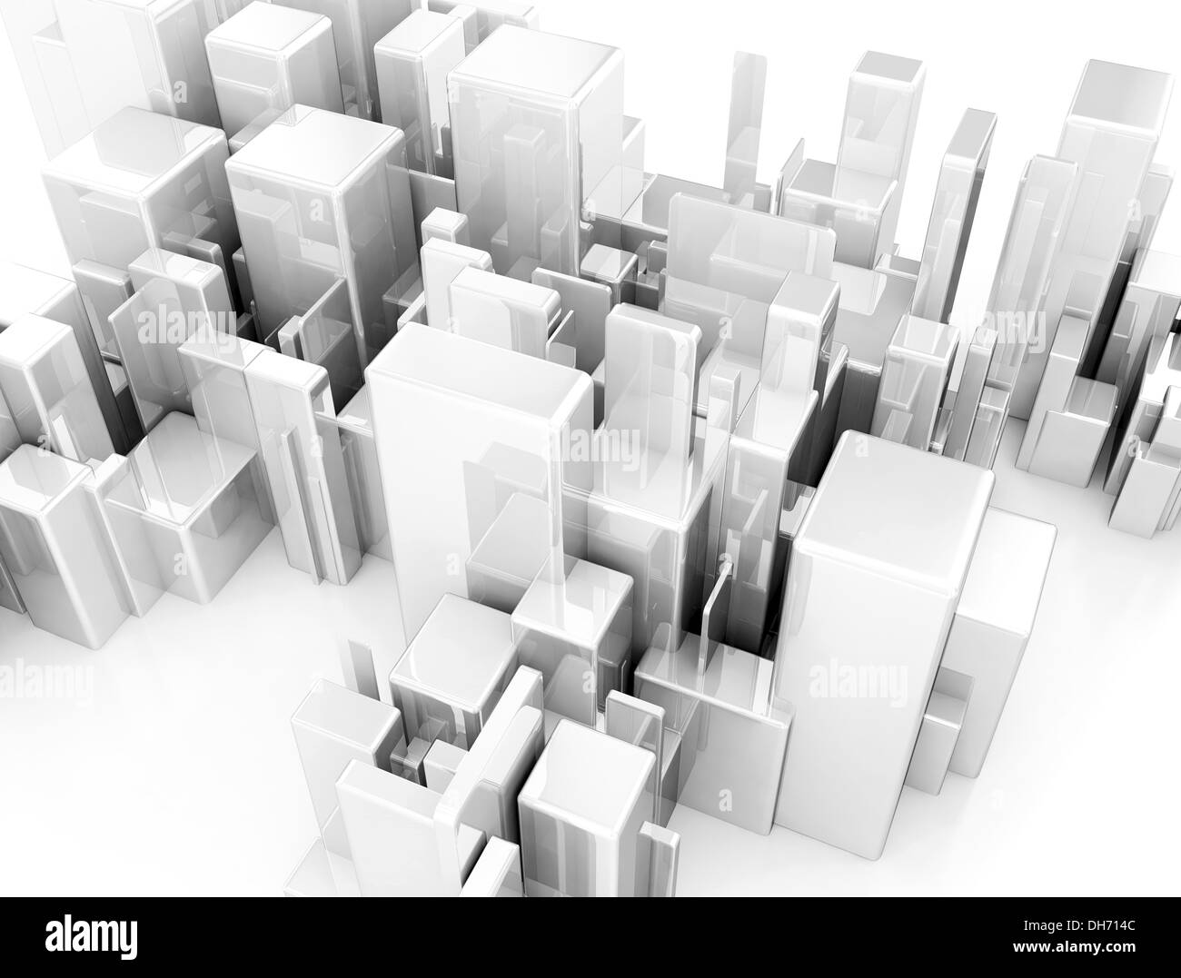 Abstract City Scape 3d Model