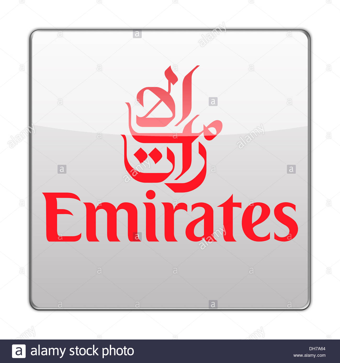 emirates airline icon logo flag sign app stock photo