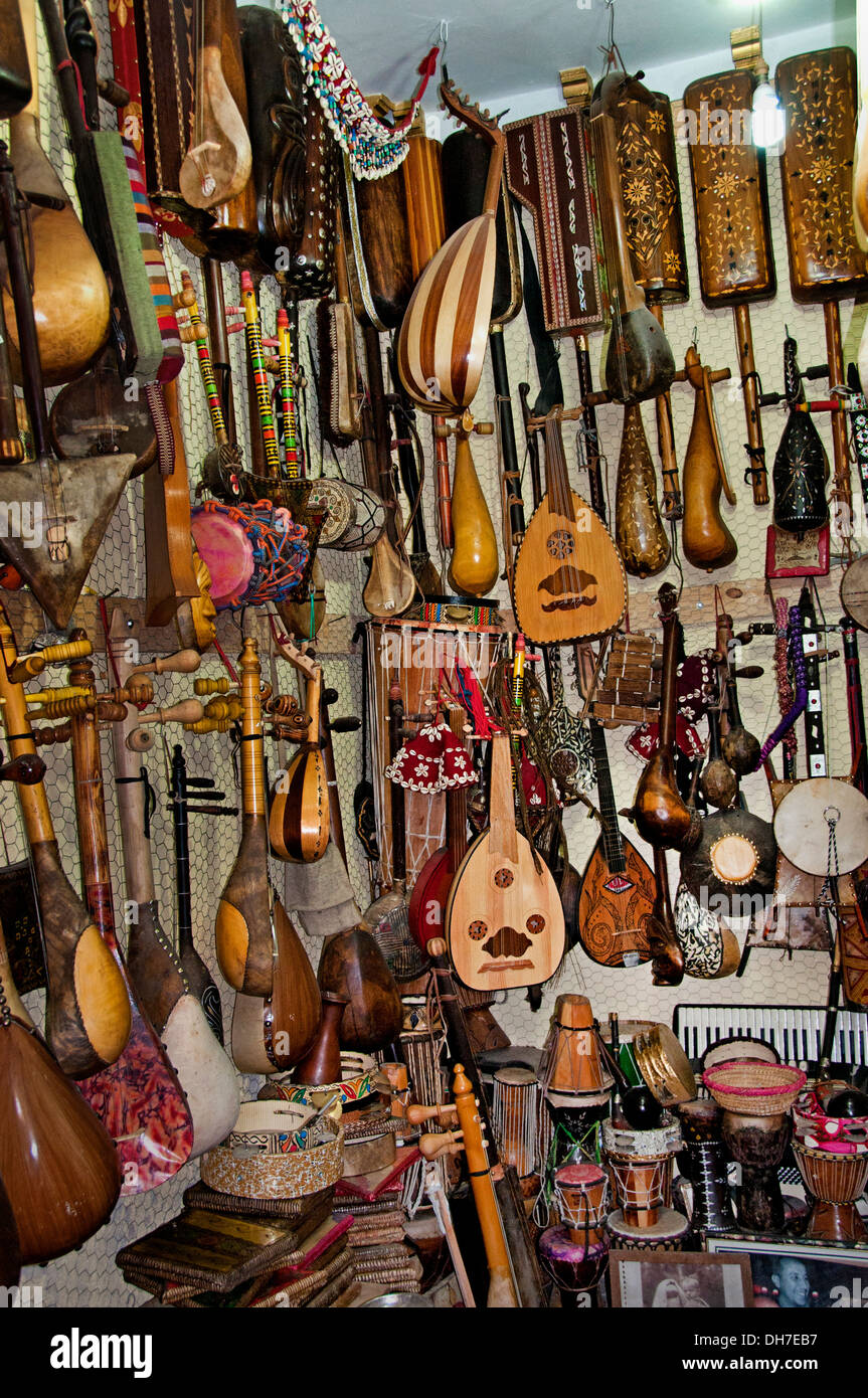 Marrakesh Morocco Musical Instrument Shop Guitar Drum Stock Photo ...