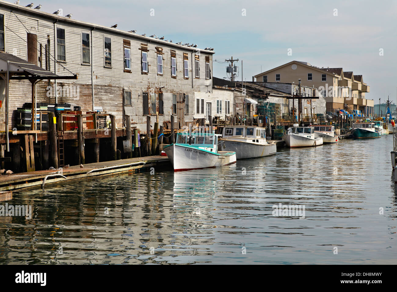 Boats in portland maine harbor stock photo royalty free for Portland maine fishing