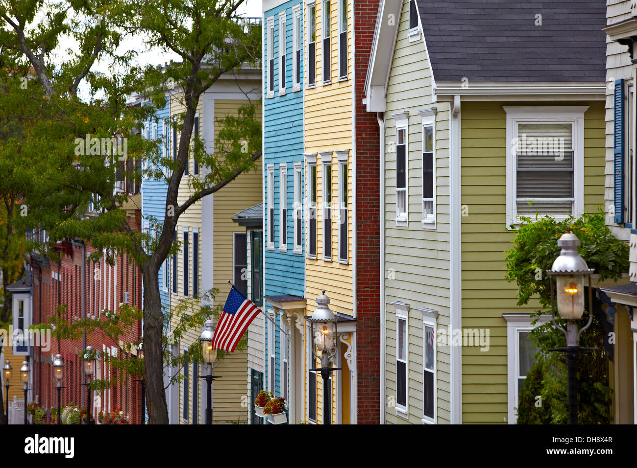Classic Colonial Homes Charlestown Boston Massachusetts Colonial Homes Stock