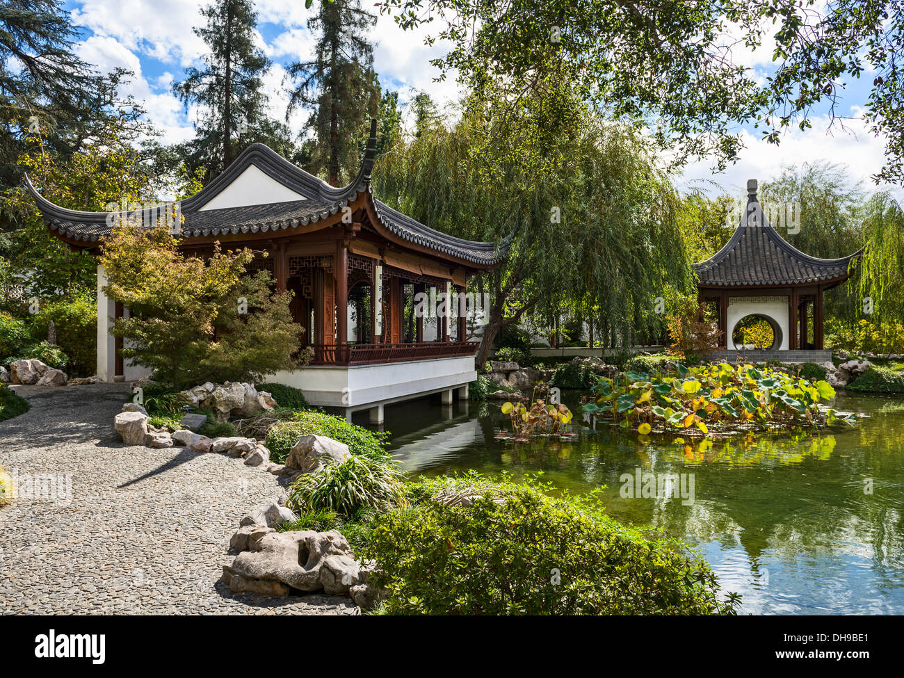 Beautiful Chinese Garden At The Huntington Library Stock Photo Royalty Free Image 62286841 Alamy