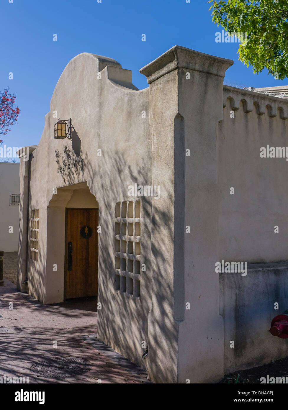 Adobe building in Southwestern style architecture made up of a