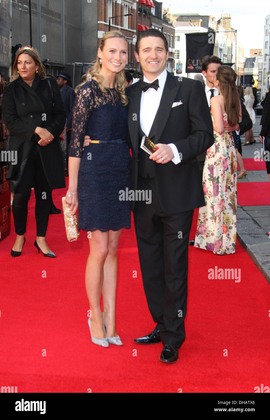 Tom Chambers and wife Clare Chambers Olivier Awards 2012 held at