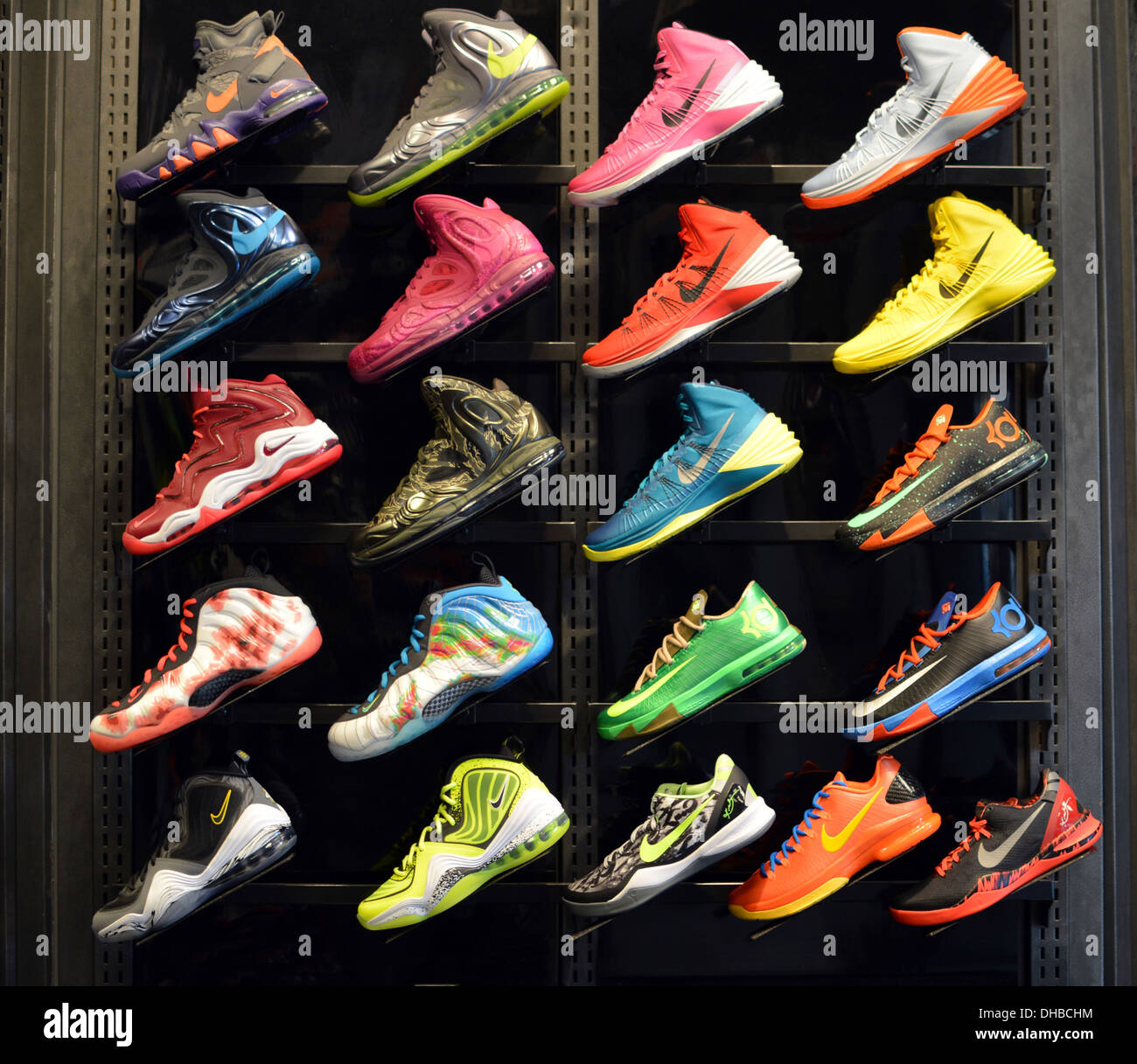 colorful s athletic shoes for sale at a foot locker