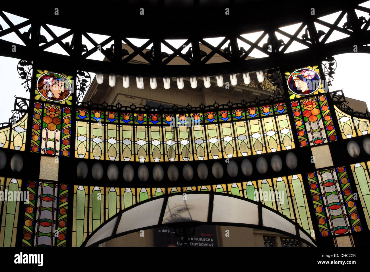 Stained Glass Art Deco, Municipal House, Prague City, Czech Republic Design Inspirations