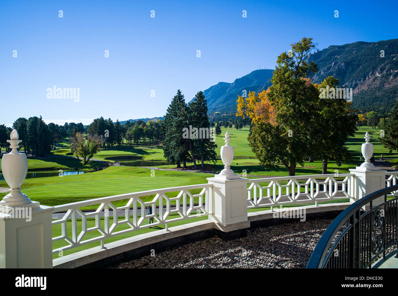 Patio overlooking the golf course the broodmoor historic luxury hotel and resort colorado